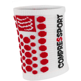 Compressport 3D Dots Muñequera, white-red